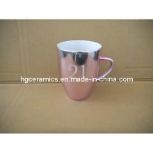 Tasse de couleur métallisée, tasse promotionnelle couleur métallisée