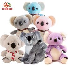 Bleu fait sur commande / rose / pourpre / mini / géant / ours de kala de panda de bébé, jouets moelleux peluches de Koala de peluche de Noël avec votre logo