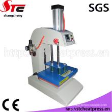 Máquina de impressão de transferência térmica de logotipo de estação única pneumática