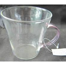 Single Wall Galss Cup with Pink Ear