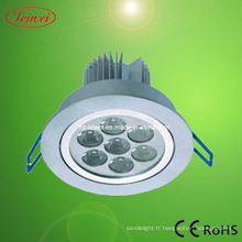 7 * 1W LED SMD puce plafonniers