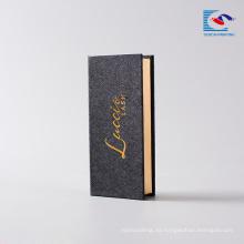 cajas de empaquetado cosméticas de impresión de cartón para pestañas postizas