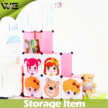 Free Standing Cartoon Design Multipurpose Foldable Kids Storage Box