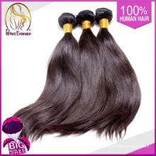 China Guangzhou mercado grossista cabelo marrom, humanos tecer cabelo