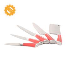 Deft design 5 pcs de alta grau de cozinha em casa afiada linha suíça conjunto de faca