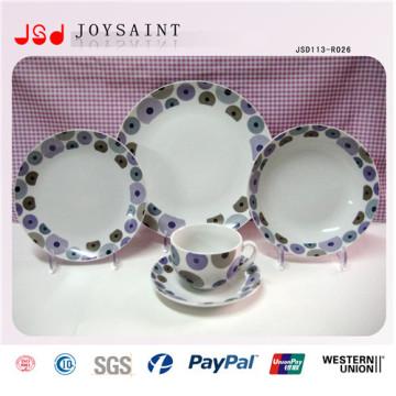 14 pulgadas personalizadas China vajilla de porcelana venta caliente para promoción