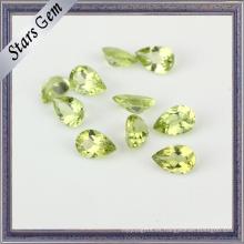 Piedra peridoto natural de alta calidad de la pera para la joyería
