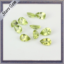 Pear High Quality Natural Peridot Stone for Jewelry