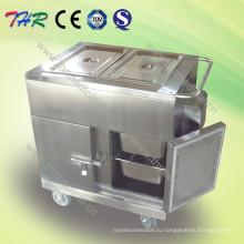Электрическая нагревательная тележка для продуктов из нержавеющей стали