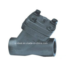 Válvula de retención de pistón de acero forjado (tipo Y)