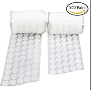 Round White Velcro Hook and Loop Dots