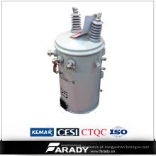 Projeto elétrico de Pólo do transformador de poder do abaixador 25kVA dos produtos de cobre