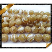 Natural Mop suaves perlas redondas de perlas (APS029)