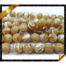 Natural Mop Smooth Round Beads Pearl (APS029)