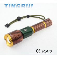 High Power XML T6 Led Aluminum usb flashlight