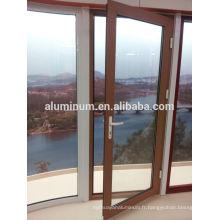 Porte latérale en bois-aluminium