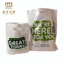 Wholesale Shopping Packaging 100% Biodegradable Degradable Bio Compostable Die Cut Handle Plastic Bag