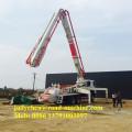 Camion de pompe de boom de béton de XCMG / SANY 37m