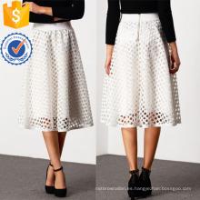 Cintura alta ojete círculo falda fabricación al por mayor ropa de mujer de moda (TA3076S)