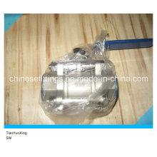 Ручка рычага Ss316 Sw нержавеющая сталь гнездо шаровой клапан