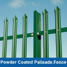 PVC-überzogener Palisade-Zaun, Farbe Palisade Fechten für Sicherheit, Pulverlackierung Palisade Stahlzaun