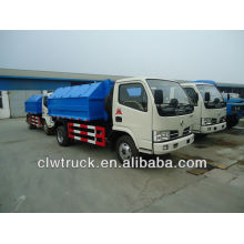 Dongfeng 4000L waste truck with mobile waste bucket