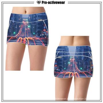 Mulheres Professional Elastic Running Shorts