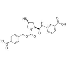 3-[[[(2S,4S)-4-Mercapto-1-(4-nitrobenzyloxy)carbonyl-2-pyrrolidinyl]carbonyl]amino]benzoic acid CAS 202467-69-4