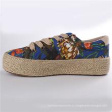 Женская обувь холст обувь с Пеньковой веревкой резиновая подошва СНС-28007
