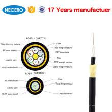 Buen precio de alta calidad Adss 24 Core Cable de fibra óptica