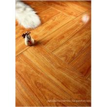 Household 12.3mm Mirror Walnut Sound Absorbing Laminated Flooring