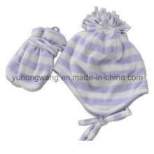 Cheap Lady Knitting Inverno Quente Impresso Polar Fleece Set