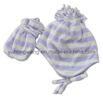 Ensemble de polaire polaire imprimé bon marché Lady Knitting Winter