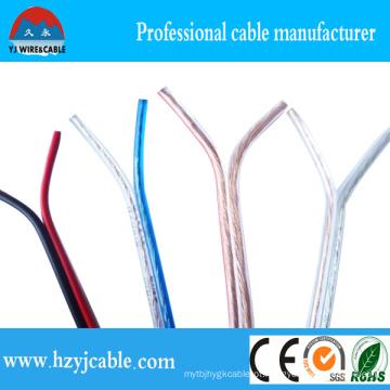 1.5mm2 Cabo de alto-falante transparente, cabo paralelo vermelho e preto, fio elétrico flexível