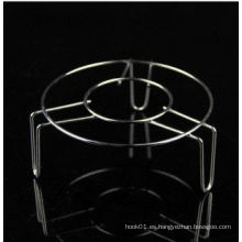 Alta temperatura resistente cocina plata blanco acero inoxidable vaporizador titular