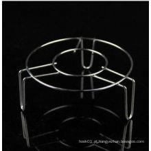 Cozinha resistente a altas temperaturas porta copo de aço inoxidável de prata e aço inoxidável