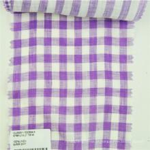 tecido xadrez feito a partir de materiais de linho utilizados para vestuário