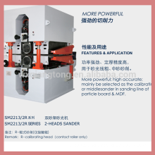 MDF and particle board sanding machine