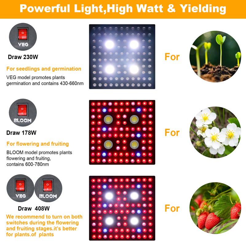 led grow light veg bloom
