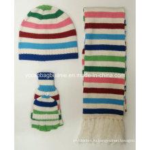 Комплект 100% акриловый высокого качества Knit Hat Set