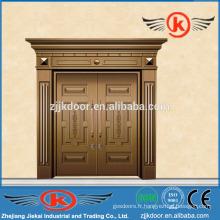 JK-C9026 façade double porte / porte maison en cuivre / porte extérieur de villa