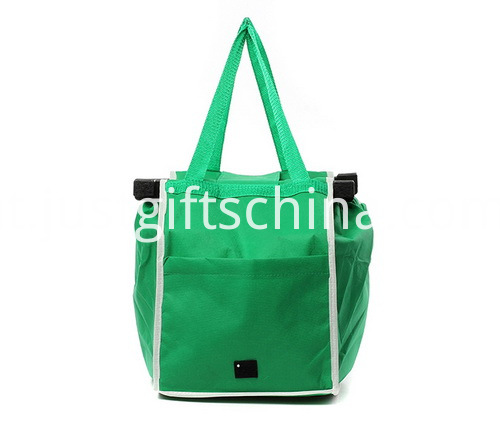 Promotional Shopping Cart Grab Bags Made Of Non Woven Fabric
