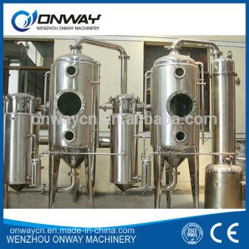 Precio de Fábrica de Alta Eficiencia Elaboración Industrial de Agua Inoxidable Evaporador de Circulación Vacío Destilería de Agua Naranja