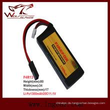 Firefox 11.1V 1300mAh Li-Po Li-Polymer Square Batterie 20 c
