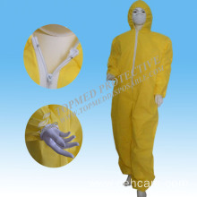 High Quality Safety Yeloow Coverall with Hood