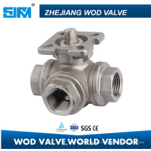Good Quality Three Way Ball Valve L Type or T Type