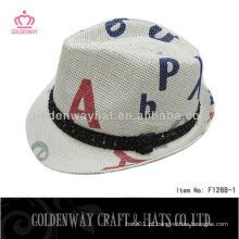 Moda em papel Fedora Hat Promoção econômica fábrica de palha natural fábrica