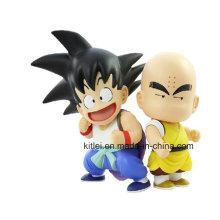 Mini anime figura de ação Kongfu crianças plástico modelo de boneca brinquedo