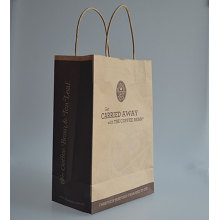 Gift paper bag hand take paper bag