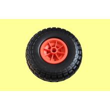 Колеса PU с пластиковой оправе 410/350-4 для тележки, тачки, популярных в Америке и Европе
